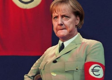 Image result for merkel hitler