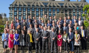 Newly elected SNP MPs at Houses of Parliament, Westminster