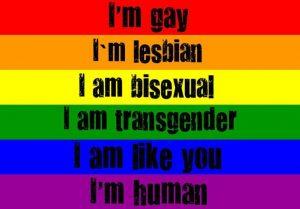 RainbowFlagImHumanViaWipeOutHomophobiaFB